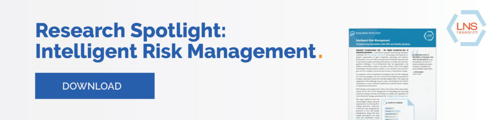 Risk management with EHS and quality systems